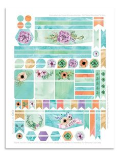 Free Printable Floral Planner Stickers from Plan To Love This Life