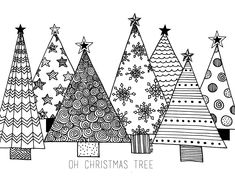 Christmas Winter Tree Holiday Coloring