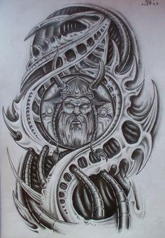 finished viking biomech by ~karlinoboy on deviantART