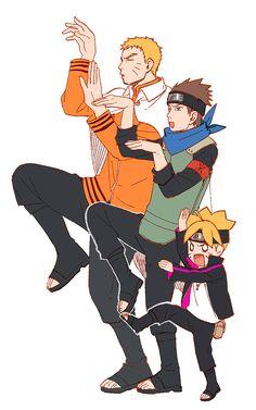 Tags: Anime, Noeunjung93, NARUTO, Uzumaki Boruto, Uzumaki Naruto, Sarutobi Konohamaru, Yotsuba&! (Parody)