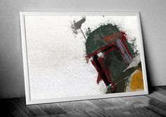 Star Wars Art Boba Fett Art Boba Fett Helmet by greyHEARTdesign