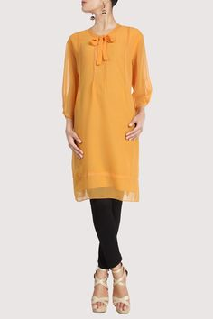 Mustard yellow flowing tunic. Shop Now: www.karmik.in/shopping/index.php