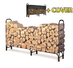 8ft Firewood Log Rack Stacking Rack Wood Holder with Waterproof Cover by HOMCOM. $59.99. Open Air Design delivers excellent ventilation perfect for seasoned firewood.. Provides year round protection for your firewood.. Neatly store your firewood outside your door. Easy assembly, all steel frame rack with black powder coat finish.. Heavy duty Tubular steel construction. Always want to have dry firewood when you need it? Our firewood rack can keep your firewood high and dry and ...