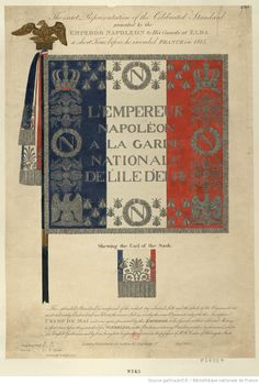 The-exact-Representation-of-the-Celebrated-Standard-presented-by-the-Emperor-Napoleon-to-His-guards-at-Elba-a-short-time-before-he-invaded-France-in-1815-estampe.jpg (1023×1514)