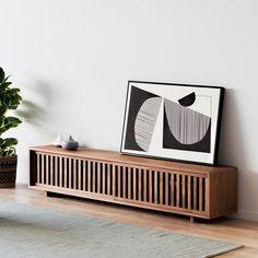 Living Room Tv, Home And Living, Living Spaces, Furniture Hardware, Furniture Design, Online Furniture Stores, Walnut Veneer, Tv Unit, Dining Room Furniture