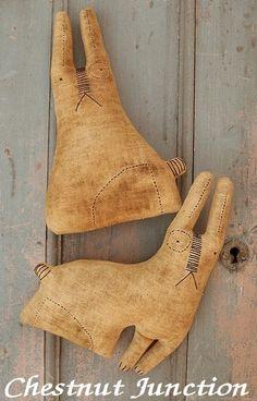 Olde Rabbits primitive bunny doll epattern by chestnutjunction, $3.99