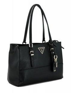 5cdb8f8d7372d Schultertasche Damen schwarz Guess Carys Black Anhänger - Bags   more