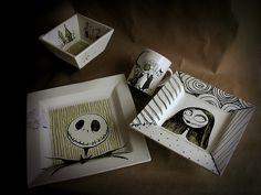 Nightmare Before Christmas Dinnerware Set by Miehana, via Flickr