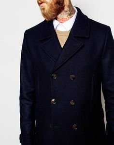 Image 3 ofTed Baker Wool Rich Pea Coat