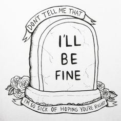 marsinstars: neck deep design i made as a commission <<<I don't listen to Neck Deep, but I do like this quote. Sad Drawings, Dark Art Drawings, Art Drawings Sketches Simple, Pencil Art Drawings, Lyric Drawings, Depression Art, Meaningful Drawings, Deep Art, Doodle Art