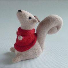 Hazel hand crafted needle felt squirrel by Gretelparker on Etsy, $203.00