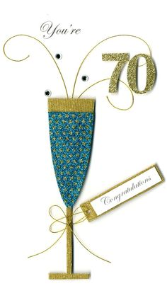 70th Birthday Card: