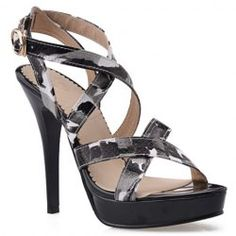 Stylish Cross Straps and Multicolor Design Sandals For Women from $30.09 by NASTYDRESS