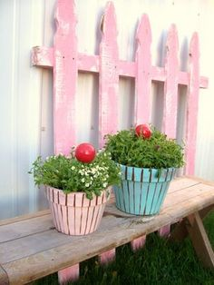 Diy cupcake planters cute for the kids play area.