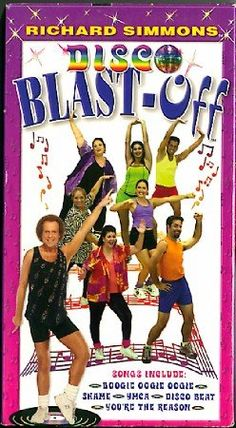 Richard Simmons Workout DVDs | Richard Simmons Disco Blast Off VHS Exercise Workout Video Tape