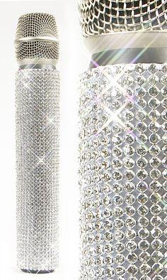 CRYSTAL SLIP-ON / WHITE DIAMONDS MicFX Microphone Sleeve www.mymicfx.com