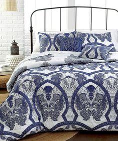 Look what I found on #zulily! Blue Valencia Comforter Set by CMN International  #zulilyfinds