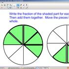 Use this SmartBoard lesson to help students see how to add and subtract fractions with like denominators.  They can come up to the board and physic...