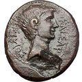 AUGUSTUS 27BC Ancient Roman Coin Greek City Amphipolis ARTEMIS on BULL i55523