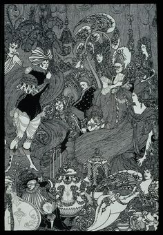 "The Cave of Spleen (Illustration to Alexander Pope's ""The Rape of the Lock""; Beardsley"