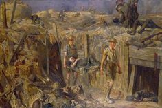 The Royal Army Medical Corps at Messines during the 1917 Offensive by Gilbert Rogers