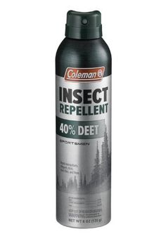 Coleman Deet Insect Repellent by Coleman. $9.67. This item is not for sale in Catalina Island. Innovative aluminum aerosol can. Provides up to 8 hours of protection. Repels and kills mosquitoes, gnats, biting flies and other outdoor insects. Formulated for the needs of outdoor enthusiasts. Our Coleman 40% Deet Insect Repellant provides up to 8 hours of protection. It's formula repels mosquitoes that may carry diseases such as the West Nile virus. This is formulated f...