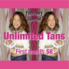 Air-Tan Special for February 2014.  No obligation.  Claim the offer on our fan page to get the $50 membership fee WAIVED!  Click pin to take you to our fan page :)