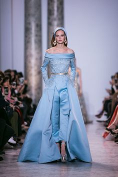 Photography: Greg Finck - www.gregfinck.com Read More on SMP: http://www.stylemepretty.com/2017/01/29/elie-saab-haute-couture-ss17-paris-fashion-week/