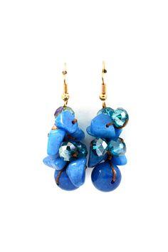 Sadie Clusters in Blue Jade//