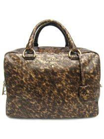 2011 Prada tote handbag Serpentine Leather BT0520 Dark Brown  [$258] from bagspurseonline.com