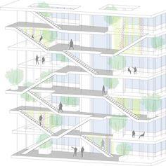 Galeria - NL*A divulga projeto de edifício corporativo ecológico na França - 21