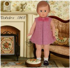 Vêtement pour poupée Modes et Travaux Marie Françoise ou Françoise Octobre 1965