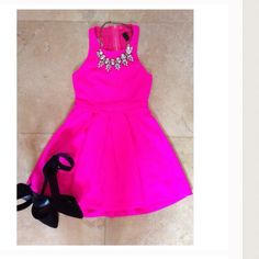 Flirty pink party dress Bought off another posher , hasn't been worn by me.  Just trying to earn what I paid. Let me know if you any questions  WINDSOR Dresses Mini