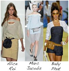 Fanny Packs / hip bags on the Runway 2010 - Alice Roi, Marc Jacobs and Baby Phat Cute Fanny Pack, Baby Phat, Outfit Combinations, Beautiful Bags, Marc Jacobs, Collars, Bum Bags, Celebs, Tool Belt
