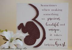 Surrogacy Pregnancy String Art Sign Decor