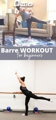 Sharing a new barre workout video that was designed for my beginner friends. I break down some classic barre moves and this is a great intro if you're just trying out barre for the first time or if you're a fitness beginner. | Barre Workouts | The Fitnessista Barre Workout Video, Workout Videos, Barre Workouts, Body Workouts, Workout Routines For Women, Home Exercise Routines, At Home Workouts, Barre Moves, Leg Routine