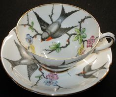 Swallows - What a beautiful tea cup & saucer.