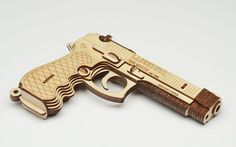 Beretta by Laserists Laser-cut wood puzzle! 3d Puzzles, Wooden Puzzles, Cool Laser, Cnc, Rubber Band Gun, 3d Cuts, Laser Cutter Ideas, Annie Oakley, Lazer Cut