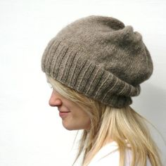 knit a hudson hat in adult size, making it a little bit slouchy and a larger ribbed trim=this lovely hat