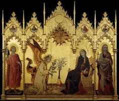 Simone Martini. Annunciation. 1333, Wood panel. Galleria degli Uffizi, Florence, Italy