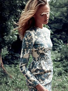 love the print on this Valentino dress