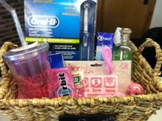 Our gift basket for the Ladies Night Out event in Sycamore on June 6th, 2013!  Proceeds in the silent auction benefit breast cancer research!