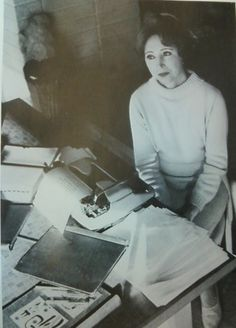 Anais Nin at her typewriter