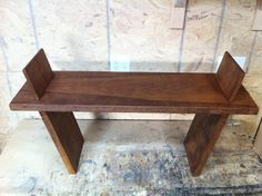 Mortise and Tenon Sycamore bench. Very Unique.