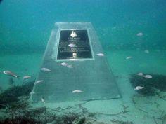""" Titanic"" underwater body headstone"