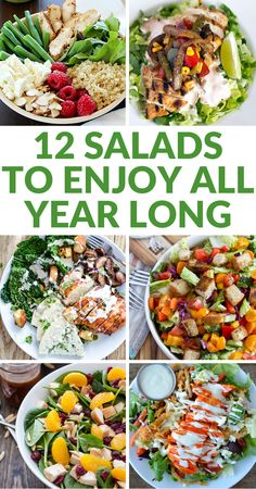 12 Salads that you can enjoy all year long, not just in the summer!