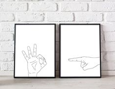 Excited to share this item from my shop: Immature hand gestures wall art, sexy wall art above bed art prints set of 2 prints large printable wall art bedroom decor cheeky sex print Bedroom Wall Decor Above Bed, Bedroom Decor, Artwork Above Bed, Master Bedroom, Bedroom Prints, Bedroom Ideas, Shops, Extra Large Wall Art, Geometric Art