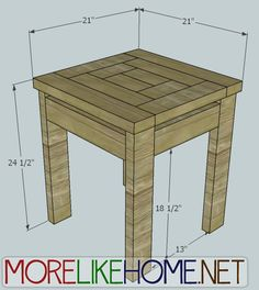 More Like Home: Day 22 - Build a Craftsman Style End Table for less than $10