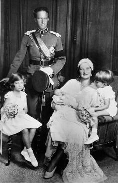 Leopold and Astrid with their three children