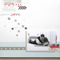 This adorable layout by Stephanie Bryan used the Hey Kid collection by Pink Paislee! Layout Inspiration, Creative Inspiration, Scrapbooking Layouts, Scrapbook Cards, Layout Design, Baby Memories, American Crafts, Really Cool Stuff, Color Pop